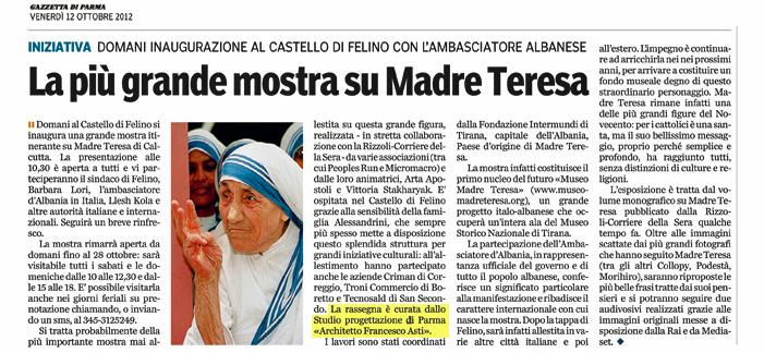 allestimento Mostra Madre Teresa