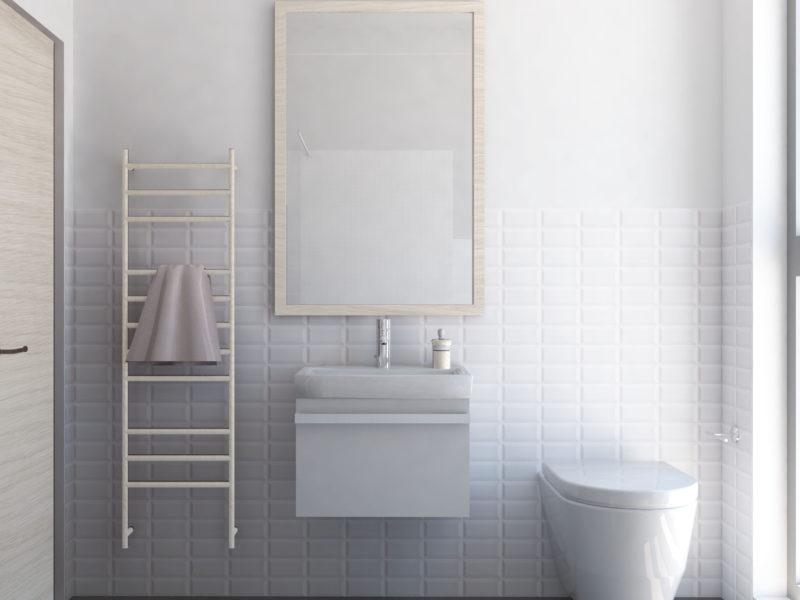 Arredo e rivestimenti bagno abitazione privata | Arch. Francesco Asti
